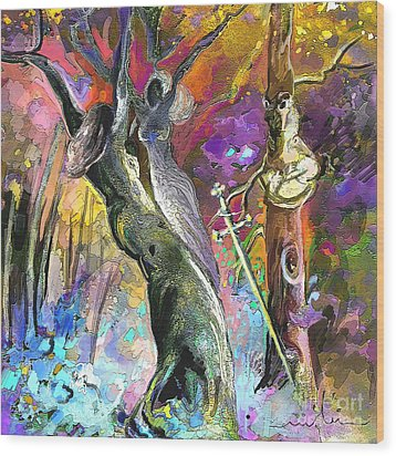 King Solomon And The Two Mothers Wood Print by Miki De Goodaboom