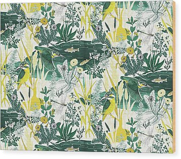 Kingfisher Wood Print by Jacqueline Colley