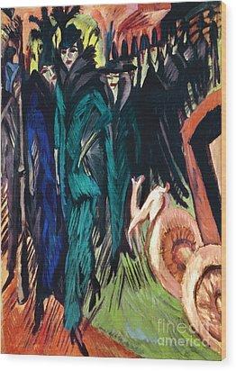 Kirchner: Street Scene Wood Print by Granger