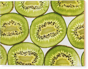 Kiwi Fruit II Wood Print by Paul Ge