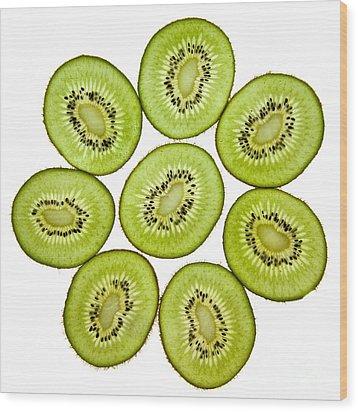 Kiwifruit Wood Print by Nailia Schwarz