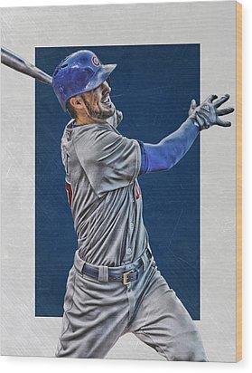 Kris Bryant Chicago Cubs Art 3 Wood Print by Joe Hamilton
