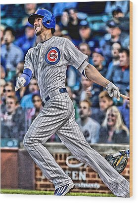 Kris Bryant Chicago Cubs Wood Print by Joe Hamilton