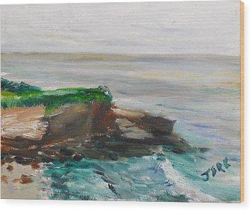 La Jolla Cove 069 Wood Print by Jeremy McKay