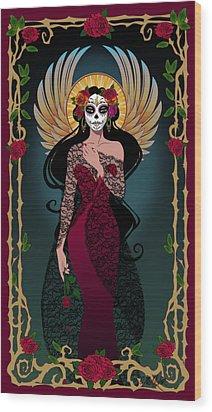 La Rosa Wood Print by Cristina McAllister