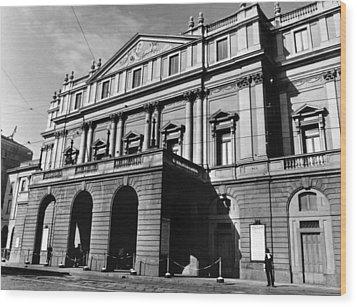 La Scala, Opera House, In Milan, Italy Wood Print by Everett