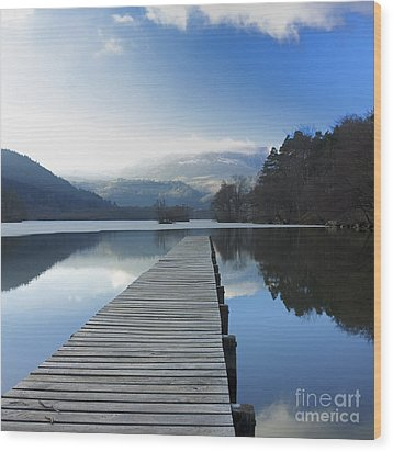 Lake Chambon. Auvergne. France Wood Print by Bernard Jaubert