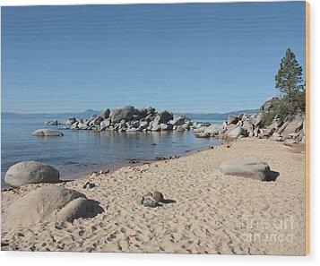 Lake Tahoe Morning Wood Print by Carol Groenen