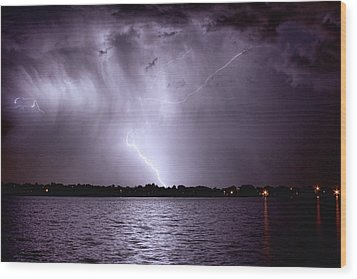 Lake Thunderstorm Wood Print by James BO  Insogna