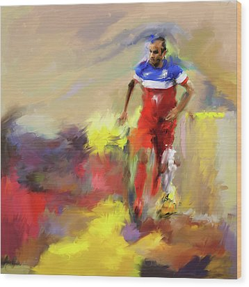 Landon Donovan 545 1 Wood Print by Mawra Tahreem