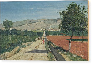 Landscape In Provence Wood Print by Paul Camille Guigou