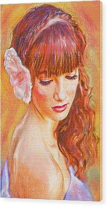 Latina Beauty Wood Print by Jane Schnetlage
