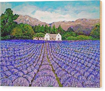 Lavender Fields Wood Print by Michael Durst