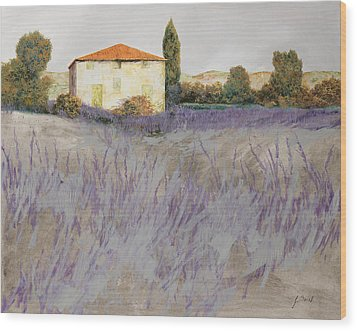 Lavender Wood Print by Guido Borelli