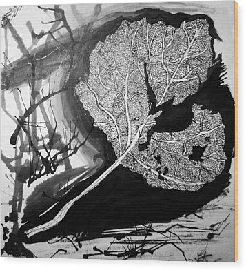 Leaf Wood Print by Jera Sky