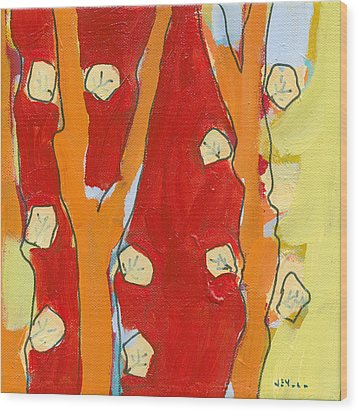 Leaf Study No 2 Wood Print by Jennifer Lommers