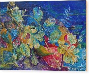 Leafin An Imprint Wood Print by Jo-Anne Gazo-McKim