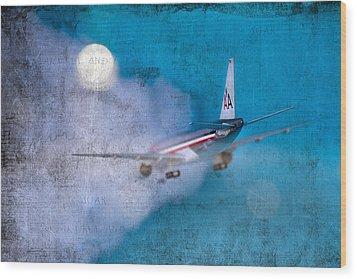 Leavin' On A Jet Plane Wood Print by Rebecca Cozart
