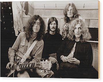 Led Zeppelin 1969 Wood Print by Chris Walter