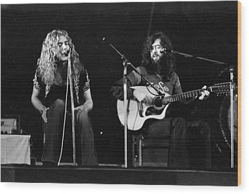 Led Zeppelin 1971 Acoustic Wood Print by Chris Walter