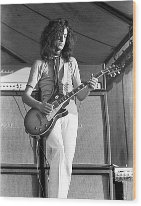 Led Zeppelin Jimmy Page '69 Wood Print by Chris Walter