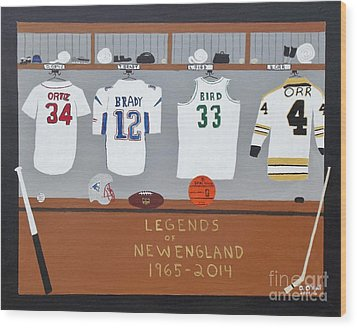Legends Of New England Wood Print by Dennis ONeil