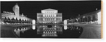 Leipzig Panorama Wood Print by Marc Huebner