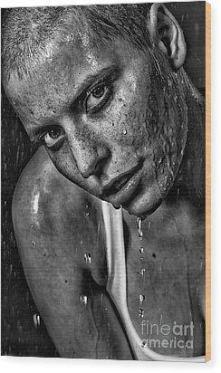 Lena Wood Print by Eugene Volkov