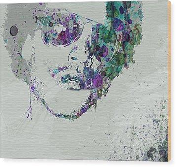 Lenny Kravitz Wood Print by Naxart Studio