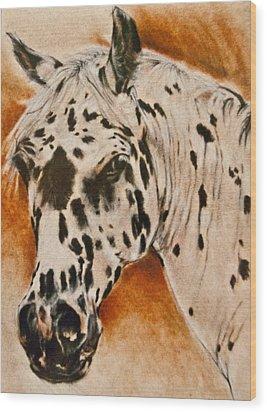 Leopard Appy Wood Print by Jani Freimann