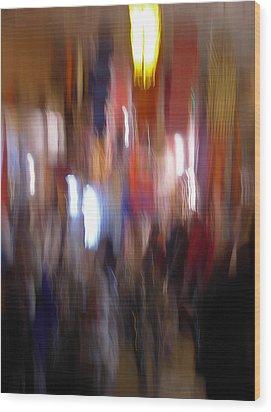 Les Couleurs Du Souk II Wood Print by Artecco Fine Art Photography
