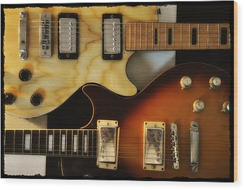 Les Paul - Come Together Wood Print by Bill Cannon