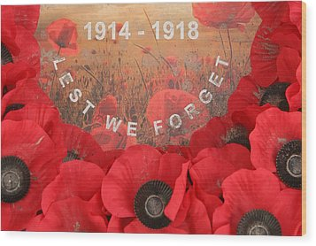 Wood Print featuring the photograph Lest We Forget - 1914-1918 by Travel Pics