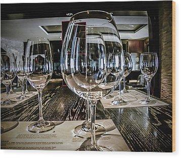 Let The Wine Tasting Begin Wood Print by Julie Palencia