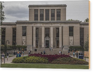 Library At Penn State University  Wood Print by John McGraw