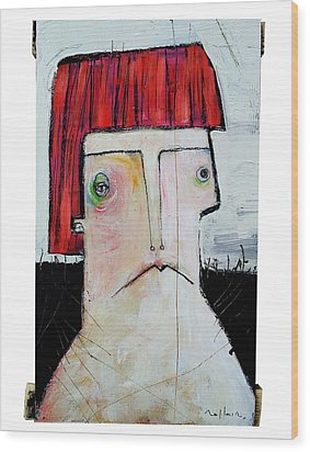 Life As Human Number Seven Wood Print by Mark M  Mellon