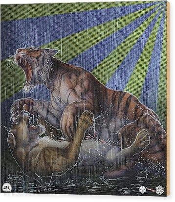Liger  Release Wood Print by David Starr