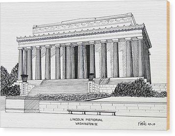 Lincoln Memorial  Wood Print by Frederic Kohli