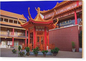 Lingyen Mountain Temple 32 Wood Print by Lawrence Christopher
