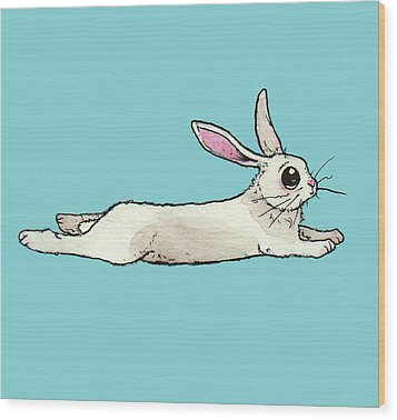Little Bunny Rabbit Wood Print by Katrina Davis