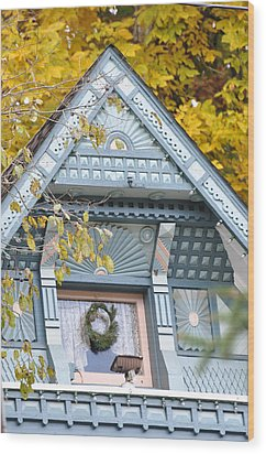 Little Pink Window Wood Print by Jan Amiss Photography