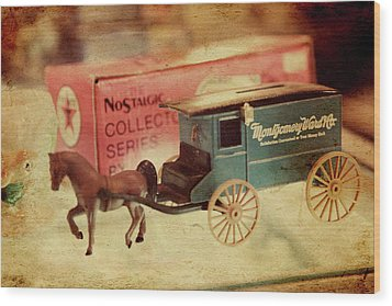 Little Stagecoach Wood Print by Toni Hopper