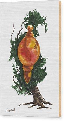 Little Tree 99 Wood Print by Sean Seal