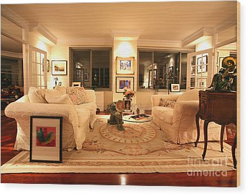 Living Room IIi Wood Print by Madeline Ellis