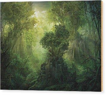 Llanowar Reborn Wood Print by Philip Straub