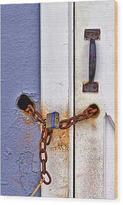 Locked Out Wood Print by Evelina Kremsdorf