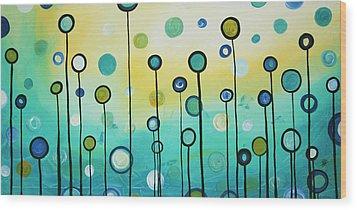 Lollipop Field By Madart Wood Print by Megan Duncanson
