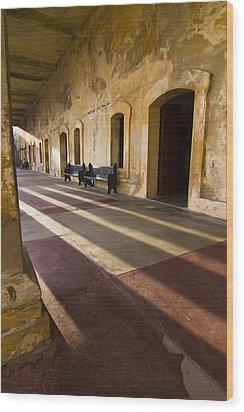Long Shadows In San Cristobal Wood Print by Sven Brogren
