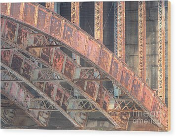 Longfellow Bridge Arches IIi Wood Print by Clarence Holmes
