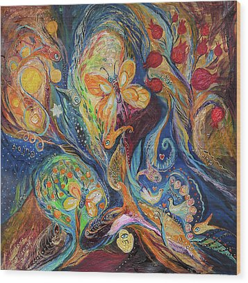 Longing For Chagall Wood Print by Elena Kotliarker